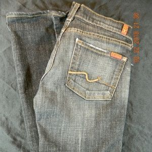 7 For All Mankind Jeans Tag Size 27 Distressed